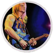 Steve Morse Painting Round Beach Towel