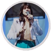 Steve Perry Of Journey At Day On The Green Ca - July 1980 Round Beach Towel