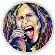 Steven Tyler Round Beach Towel by Amy Belonio