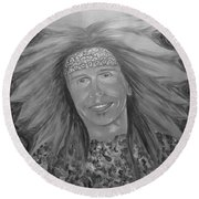 Steven Tyler Art Round Beach Towel