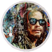 Steven Tyler Tribute Round Beach Towel