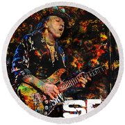 Stevie Ray Round Beach Towel