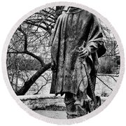 Stevie Ray Vaughan Black And White Round Beach Towel