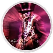 Stevie Ray Vaughan - Crossfire Round Beach Towel