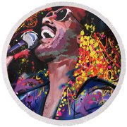 Stevie Wonder Round Beach Towel