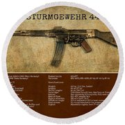 Stg 44 Sturmgewehr 44 Round Beach Towel