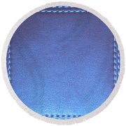 Stiched Leather Look Blue Abstract Wall Decorations By Navinjoshi At Fineartamerica.com Download Jpg Round Beach Towel