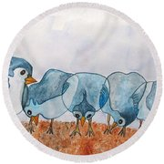 Sticking Together Round Beach Towel by Patricia Arroyo