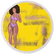 Round Beach Towel featuring the digital art Still Beautiful by Bria Elyce
