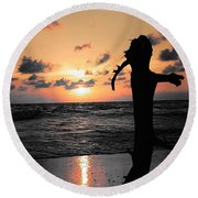 Still By Sea Round Beach Towel