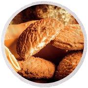 Still Life Bakery Art. Shortbread Cookies Round Beach Towel