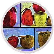Still Life Collage Round Beach Towel
