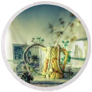 Round Beach Towel featuring the photograph Still, Life Goes On by Wayne Sherriff