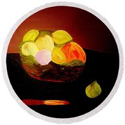 Still Life Late At Night Round Beach Towel