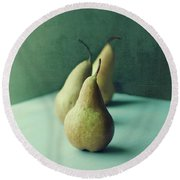 Still Life Series- Pears IIi Round Beach Towel
