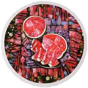 Still Life. The Taste Of Summer. Round Beach Towel