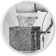 Still Life With Lamp And Tissues Round Beach Towel by Michelle Calkins