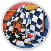 Still Life With Squares Round Beach Towel
