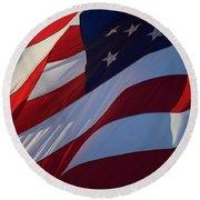Still Our Flag. Round Beach Towel