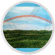 Still Searching For Somewhere Over The Rainbow? Round Beach Towel
