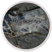 Still Stream Skeleton Screams Round Beach Towel by Carol Lynn Coronios
