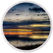 Still Sunset Round Beach Towel by Doug Long
