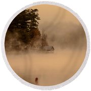 Stillness Of Autumn Round Beach Towel by Sherman Perry