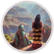 Stillness Round Beach Towel