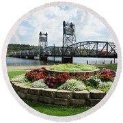 Stillwater And The Mississippi Round Beach Towel