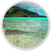 Stingray Round Beach Towel