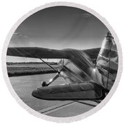 Stinson On The Ramp Round Beach Towel