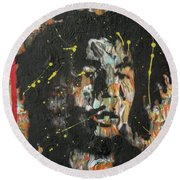 Round Beach Towel featuring the painting Stir It Up Darling by Jayime Jean