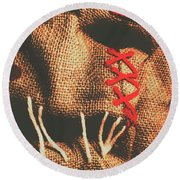 Stitched Up Madness Round Beach Towel