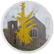 St.james Church, Exeter Round Beach Towel by Tamara Savchenko