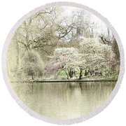 St. James Park London Round Beach Towel