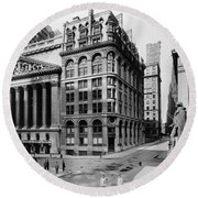 Round Beach Towel featuring the photograph Stock Exchange, C1908 by Granger