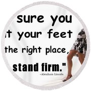 Stand Firm Round Beach Towel by Bob Pardue