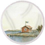 Stockholm Archipelago Round Beach Towel