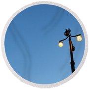 Stockholm Street Lamp Round Beach Towel