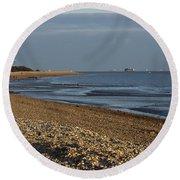 Stokes Bay England Round Beach Towel
