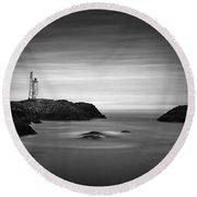 Stokksnes Lighthouse Round Beach Towel