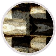 Stone Abstract Round Beach Towel