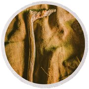 Stone Age Tools Round Beach Towel