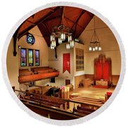 Stone Chapel Round Beach Towel
