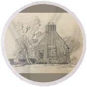 Stone Cottage Round Beach Towel