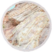 Round Beach Towel featuring the photograph Stone Feet In Valley Of Fire by Ray Mathis