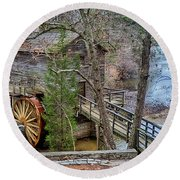 Stone Mountain Park In Atlanta Georgia Round Beach Towel