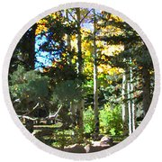 Stone Park Trails Round Beach Towel