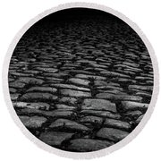 Stone Path Round Beach Towel