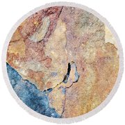 Round Beach Towel featuring the photograph Stone Pattern by Christina Rollo